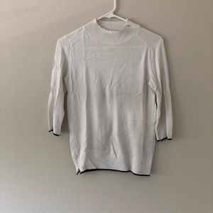 Zara Mock Turtle Neck Shirt Sweater
